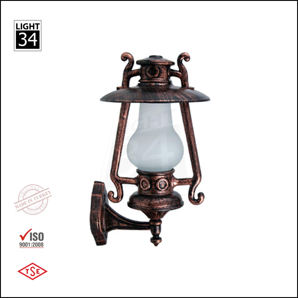 Traditional Outdoor Wall Sconce - Gas Lamp - E27 - IP55