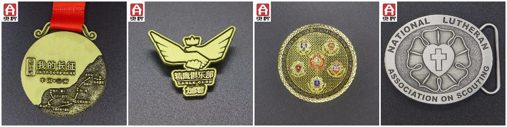 Good quality iron sport medallion custom badge