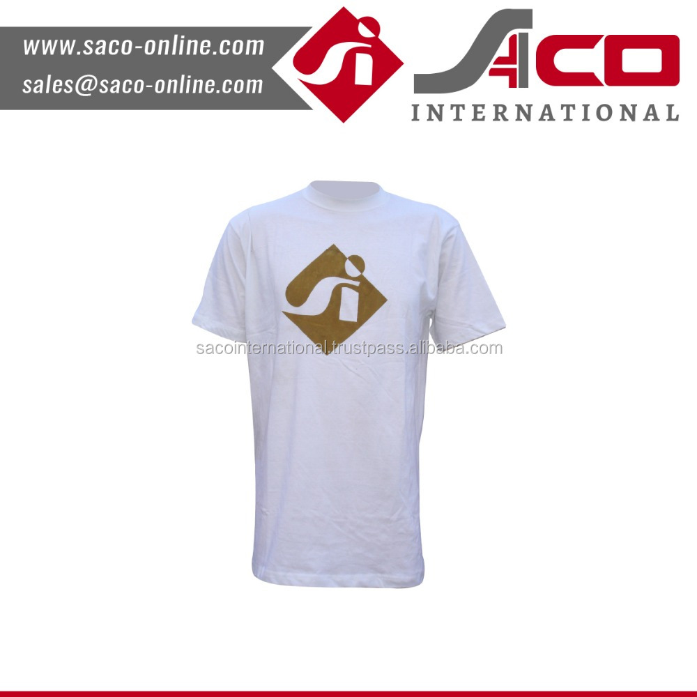 Cheap Price 100%Polyester new man white order tshirts