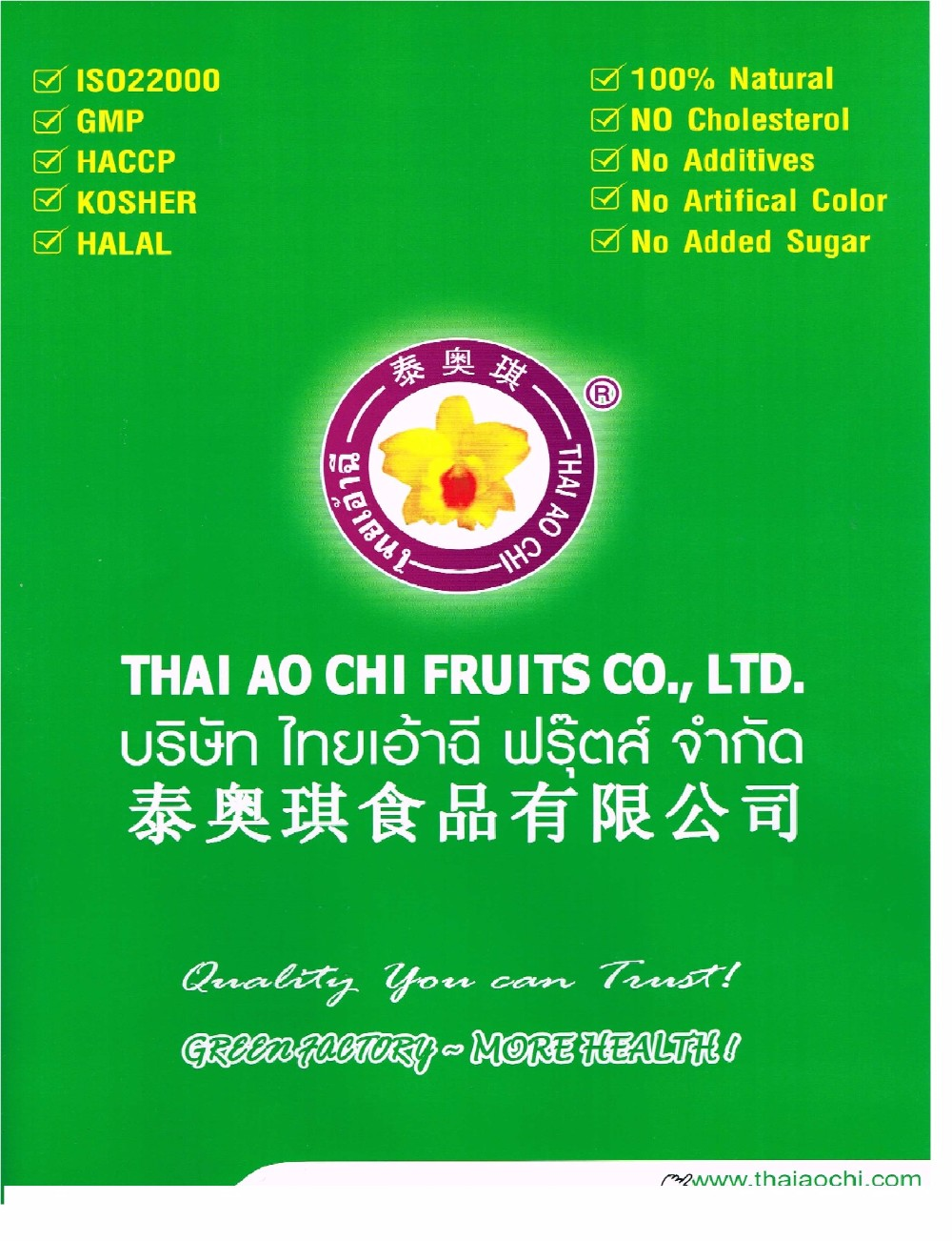 IQF Pineapple pieces from Thailand [ Thai Ao Chi Fruits ]