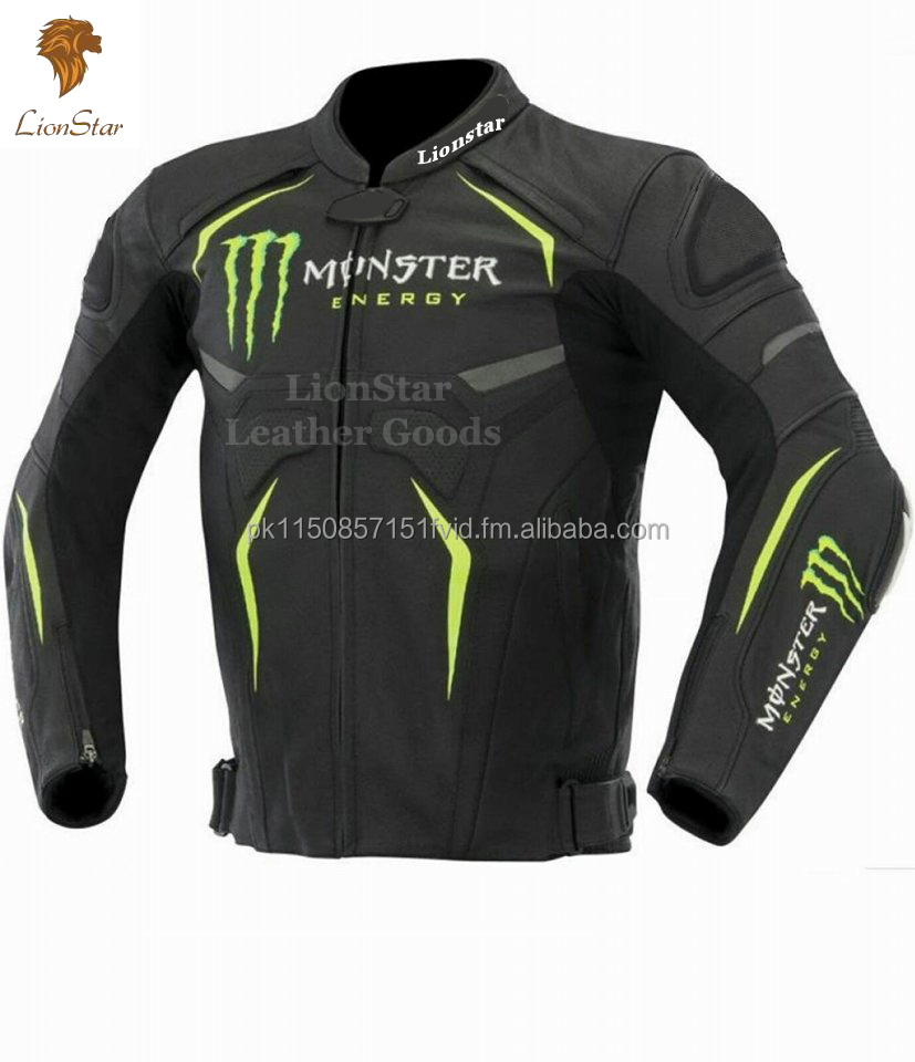 Lionstar Monster Motorbike Motorcycle Leather Jacket with CE Approved Armors