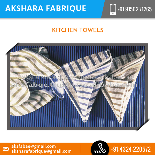 Biggest Exporter of Standard Size Cotton Kitchen Towel for Hotel , Home