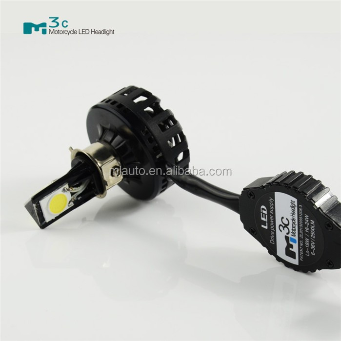 Motorcycle parts led high bright lamp M3C 18W 2000lm 6000K led motorcycle headlight