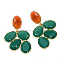 The Gopali Jewellers 2016 Beautiful jewelry Green onyx earrings Jaipur Handmade Jewellery