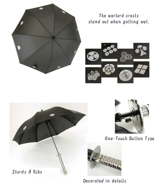 Cool and High quality samurai warrior armour Samurai Umbrella for fun , various design available
