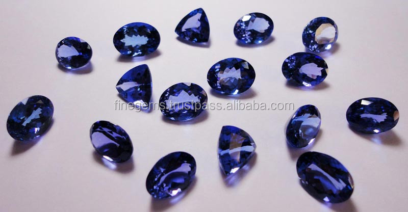 Natural Royal Blue Tanzanite faceted Cabs