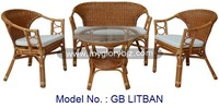 New Antique Rattan Funiture, Indoor Home Furniture, Rattan Armchair For Living Room, Indoor Rattan Sofa
