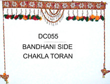 Bandhni and sparrow Handmade Kodi work wall hanging -Wholesale Decorative Handicrafts Toran Unique design High quality