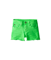 Kids elastic waist denim shorts boy in parrot color