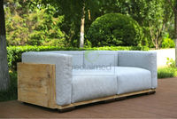 lounge sofa set VENETO - reclaimed pine wood