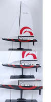 Alinghi Wooden Handicraft Sailing Yacht Model Painted (L76)