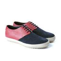 Classic Red Blue Colour Casual Sneakers Shoes For Mens