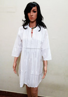Beach Party Designer One Piece Dress / Hot Cotton fashion Tunic for Summer