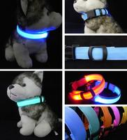 Safety LED Nylon Pet Dog Collar LED Light Flashing In Night Dark Leopard Series Pet Collar 2.5cm Wide Pet Products
