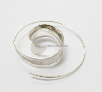 Silver 925 Earring Wire Design Jewelry Wholesale Factory Thailand