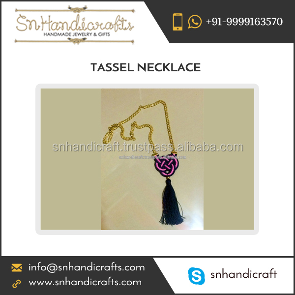 Standard Quality All Size and Color Silk Thread Tassel Necklaces for for Wholesale Buyers