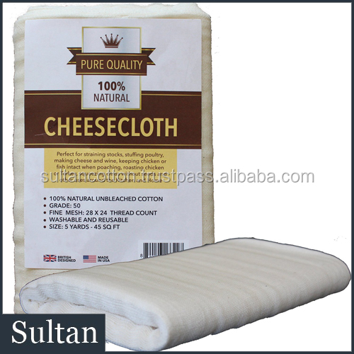 Cheese Cloth Grade 50 Unbleached Premium Quality