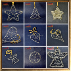 Wholesale Christmas ornaments 2018 new hanging design of wire