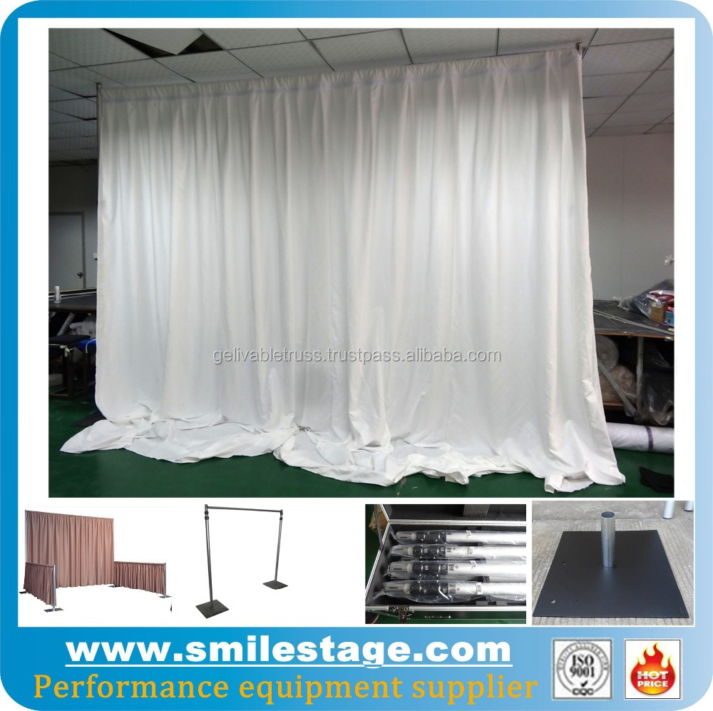backdrop banner stand for exhibition booth design and construction