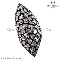 Polki Rose Cut Diamond 925 Sterling Silver Vintage Victorian Ring Women Antique Jewelry Manufacturer