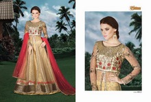 Indian Designer Fully Embroidered Bridal Anarkali Salwar Kameez ladies winter suits salwar kameez