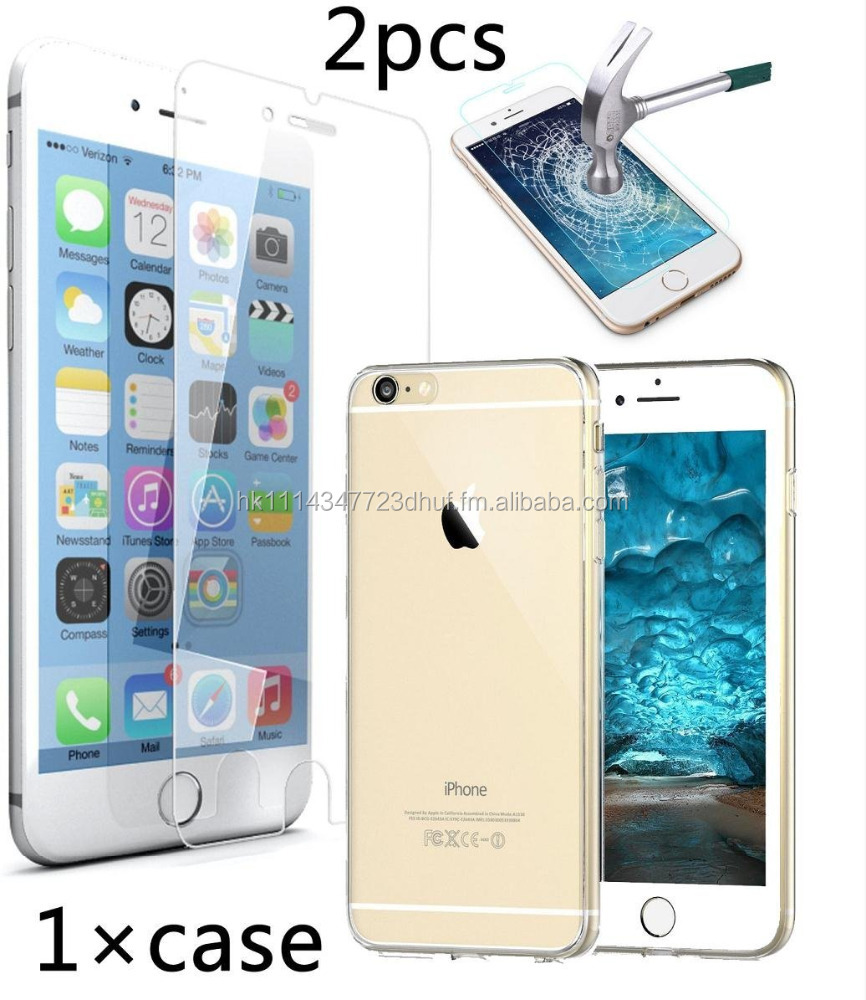 Case Cover for Phone With 2 Piece Tempered Glass Screen protector