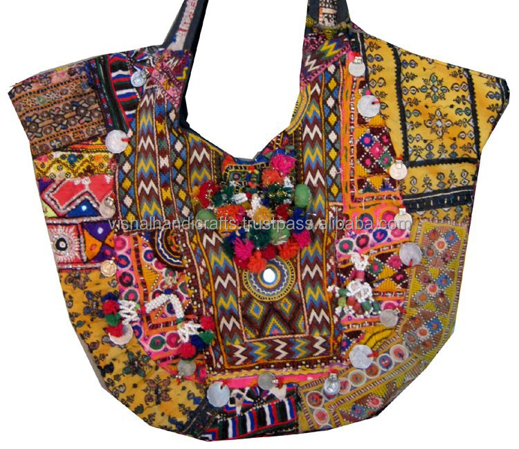 BUY INDIAN TRIBAL VINTAGE BANJARA HANDBAGS WHOLESALE