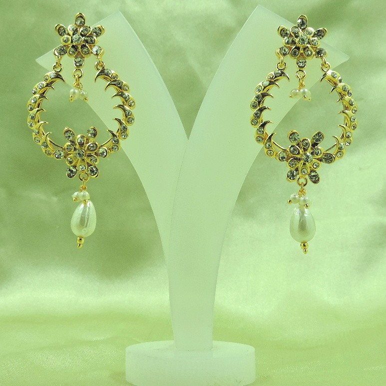 Wholesale Awesome Gold Plated Indian Bali Style Light Weight Silver Earrings