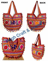 Beautiful stylish banjara vintage Indian handmade embroidery bag-Gujarati Kutchhi resham & mirror work traditional handbags