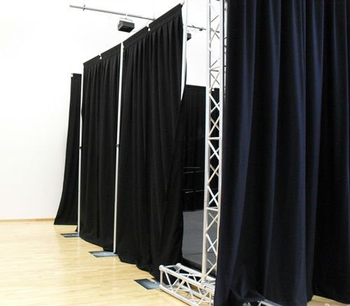 event wedding aluminum backdrop stand pipe drape trade show exhibition booth