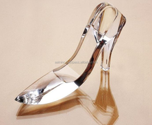 New design K9 glass shoes decorative crystal shoes
