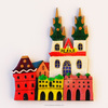 Prague tourist souvenir fridge magnet, magnet souvenir with any city, handpainted fridge magnet wholesale, GH2-05