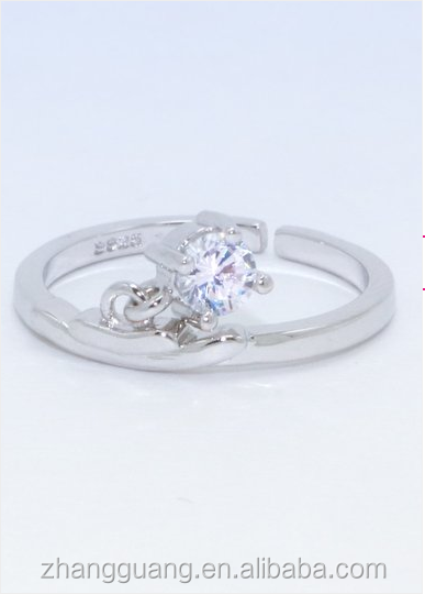 2017 Fashion New Style Shiny Crystal 12 Zodiacs sterling Silver Plated Ring