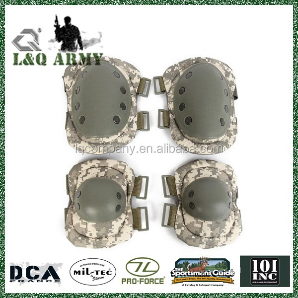 Military Tactical Polyurethane Knee Pad &Elbow Pads Set