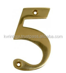 Brass Letters and Numbers for House Names