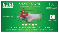 Kuki Collection Powder Free Vinyl Gloves