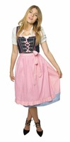 3pcs Brown Apron Drindl Custom Design Trachten Oktoberfest Bavarian Traditional Dirndl For Women