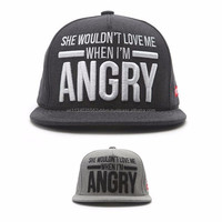 [P326-P327] ANGRY SLAV for men snapback cap BIG typo front panel hat clear stock
