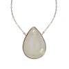 925 Sterling new model design silver earring, huge rainbow moonstone gemstone silver necklace