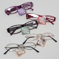 READING GLASSES 9 ASST POWERS METAL/PLASTIC FRAMES IN 9 CAVITY #4126