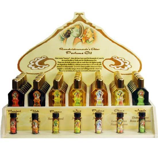 Display Rack - Perfume Attar Oils - 49 Bottles - Export from NY, USA - FREE Samples - No minimum order - Made by Yogis