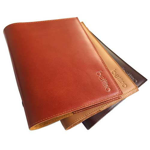 Genuine leather planner organizer agenda size B6 notebook with cover made from genuine leather