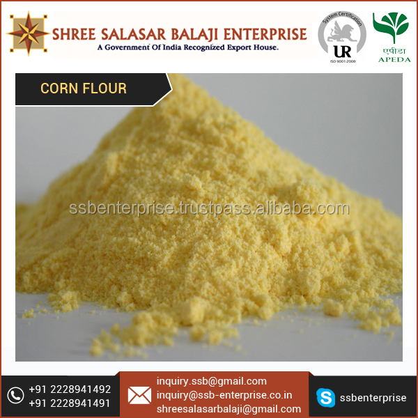 Company Certified Yellow Corn Flour for Bakeries and Snack Making Industries