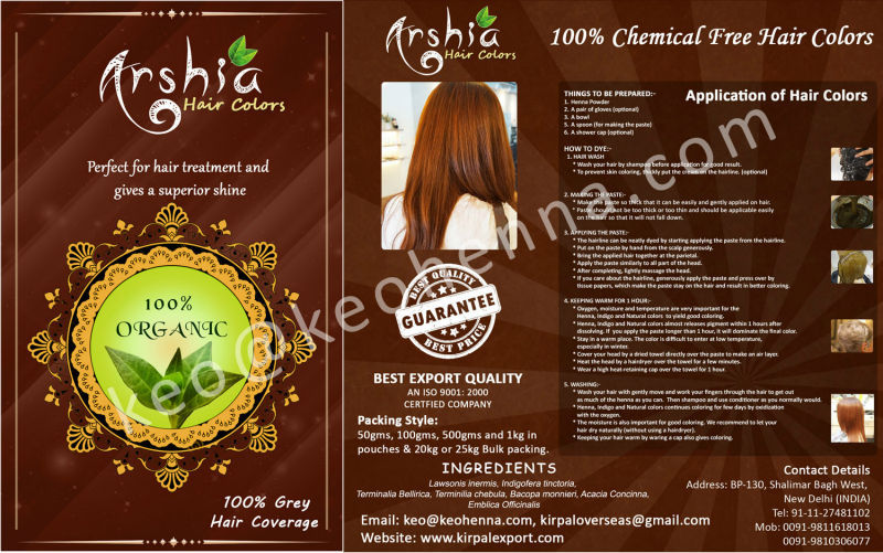 Buy wholesale henna Powder hair dye MOQ 50kg