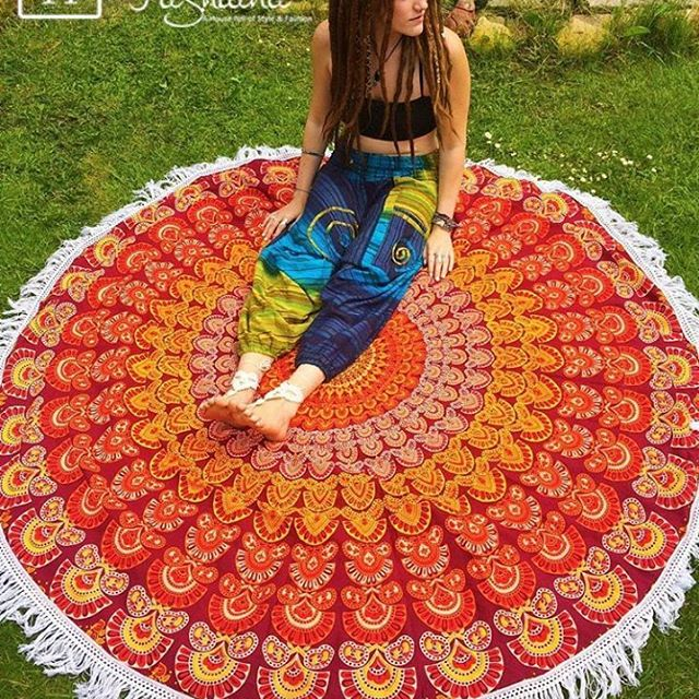 beach towel with inflatable pillow round mandala tapestry yoga towel organic towel yoga mat towel cotton towel round towel