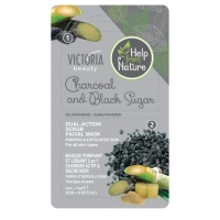 Dual-action scrub and facial mask charcoal & black sugar 7 + 7 ml.