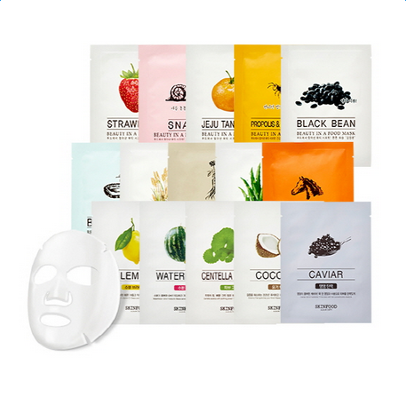 Skin Food Beauty Food Mask Sheet Moisture White Bight Facial Mask Sheet Natural Nutrient Mask