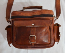 Real Leather Vintage Brown Leather Bag Camera Bag Handmade Genuine Ethnic Bag