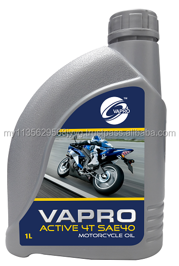 VAPRO ACTIVE 4T SAE 40 4-STROKE MOTORCYCLE ENGINE OIL