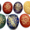 Seven Chakra Engraved Oval Set Wholesale